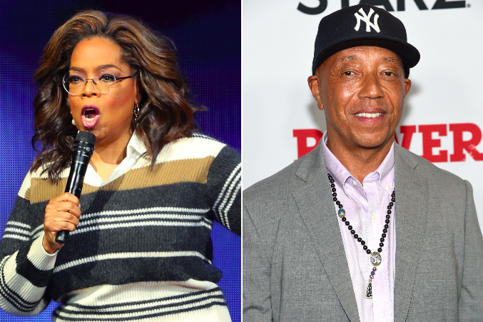 Oprah Winfrey and Russell Simmons: Getty