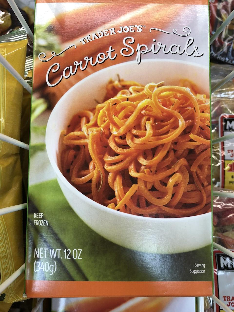 <p>Found in the freezer section, these carrot spirals are a fun and sweet alternative to spaghetti.</p>