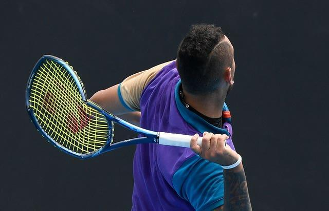 Nick Kyrgios hurls his broken racket into the stands