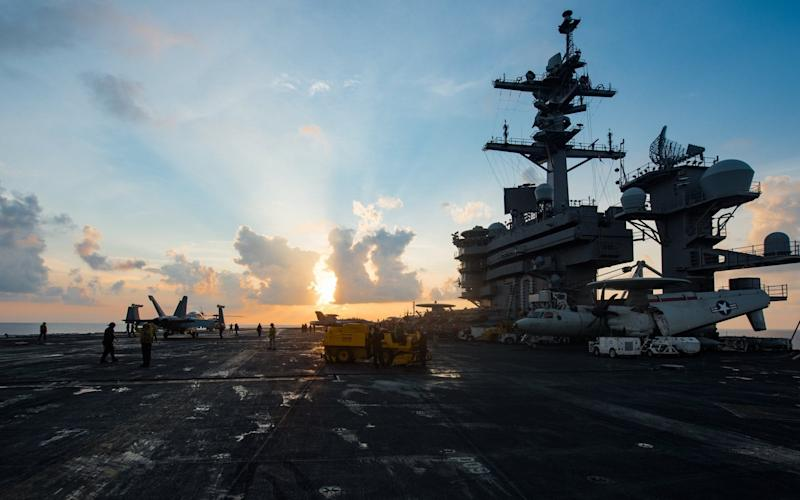 The USS Carl Vinson is now off the coast of Korea - US NAVY
