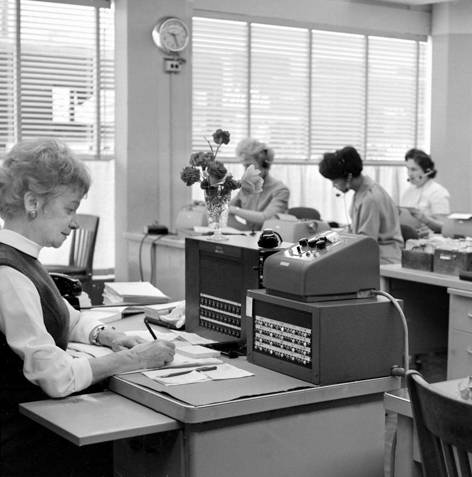 <p>Women started joining the workforce in the 1960's in management positions and other roles that were typically held by men. Prior to this shift, only unmarried, single women were likely to be employed, but throughout the 60's and 70's, married women with children sought employment at an unprecedented rate.</p>