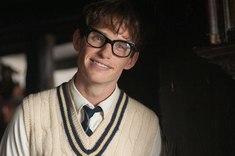 Eddie Redmayne portraying Stephen Hawking in the 2014 film <em>The Theory of Everything</em>