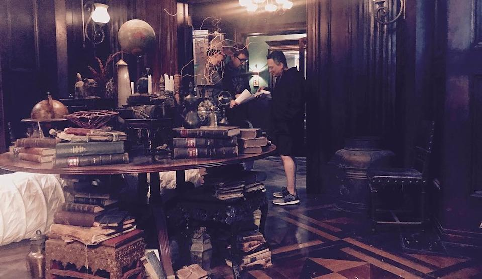 """<p>This uncaptioned image from June 22 shows filmmakers Anthony (left) and Joe Russo inside Doctor Strange's mystical study. (Photo: <a href=""""https://www.instagram.com/p/BVpXRPNAp7B/"""" rel=""""nofollow noopener"""" target=""""_blank"""" data-ylk=""""slk:therussobrothers/Instagram"""" class=""""link rapid-noclick-resp"""">therussobrothers/Instagram</a>) </p>"""