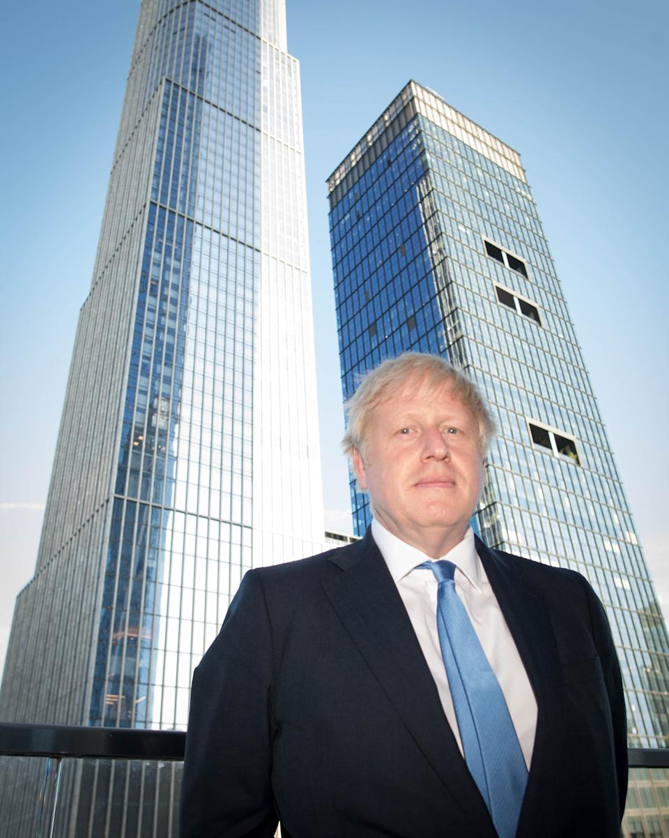 Boris Johnson pictured in New York after judges at the Supreme Court in London ruled that his advice to the Queen to suspend Parliament for five weeks was unlawful.