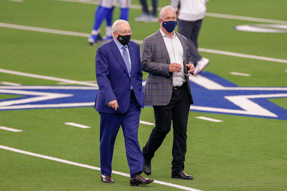 Dallas Cowboys owner Jerry Jones and Executive Vice President, CEO Stephen Jones