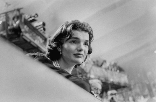 <p>Jacqueline Kennedy attending the Democratic Convention. </p>