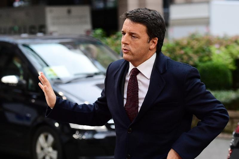 Italy's Prime minister Matteo Renzi arrives for an European Union leaders summit at the European Council in Brussels, on October 20, 2016 (AFP Photo/Emmanuel Dunand)
