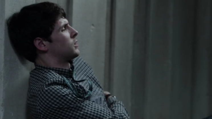 DS Anderson (Colin Morgan) after trying to stop Spector's attack on Stella