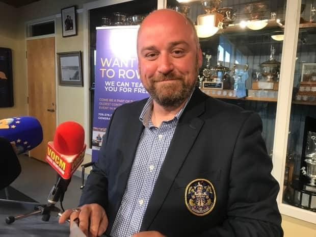 Royal St. John's Regatta committee president Bradley Power says the organization is 'very eager' to hold the event, after a hiatus in 2020 due to the COVID-19 pandemic. (Terry Roberts/CBC - image credit)