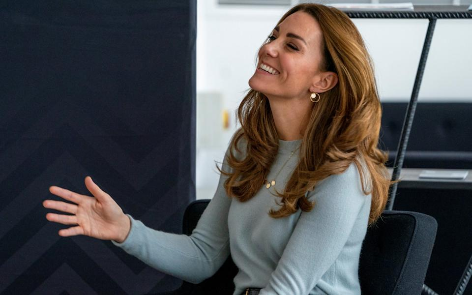 The Duchess of Cambridge hears how students have been supported through coronavirus - Pool