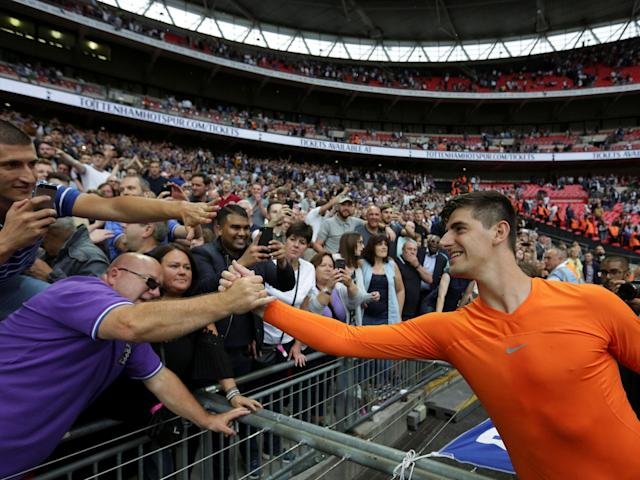 Thibaut Courtois hits out at Tottenham for using Wembley speakers to create atmosphere during defeat to Chelsea