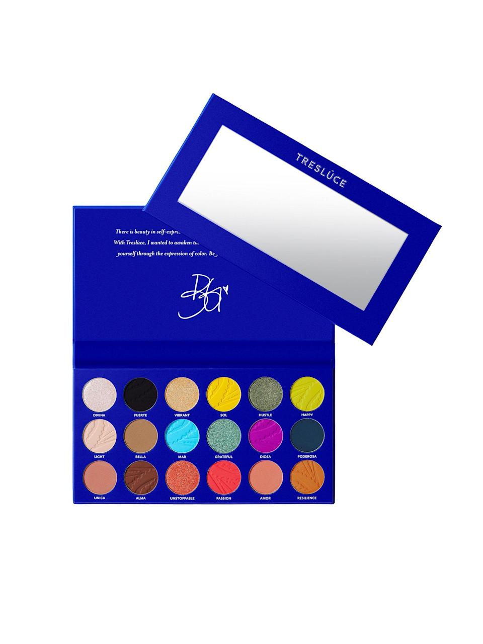 """<p><strong>I Am Eyeshadow Palette</strong></p><p>treslucebeauty.com</p><p><strong>$30.00</strong></p><p><a href=""""https://treslucebeauty.com/products/i-am-palette-shadow-palette"""" rel=""""nofollow noopener"""" target=""""_blank"""" data-ylk=""""slk:Shop Now"""" class=""""link rapid-noclick-resp"""">Shop Now</a></p><p>Founded by Mexican-American musician Becky G, Treslúce Beauty broke out onto the beauty scene earlier this year. Treslúce Beauty creates, celebrates, and supports Latinx heritage and culture through its products (which all have Spanglish names, by the way). Treslúce's products are cruelty-free and infused with Latinx sourced ingredients and art.</p>"""