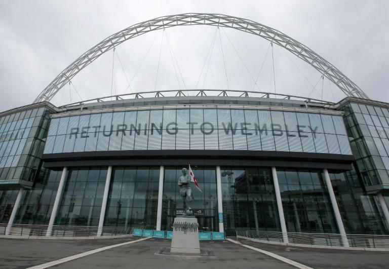A general view of the exterior of Wembley Stadium