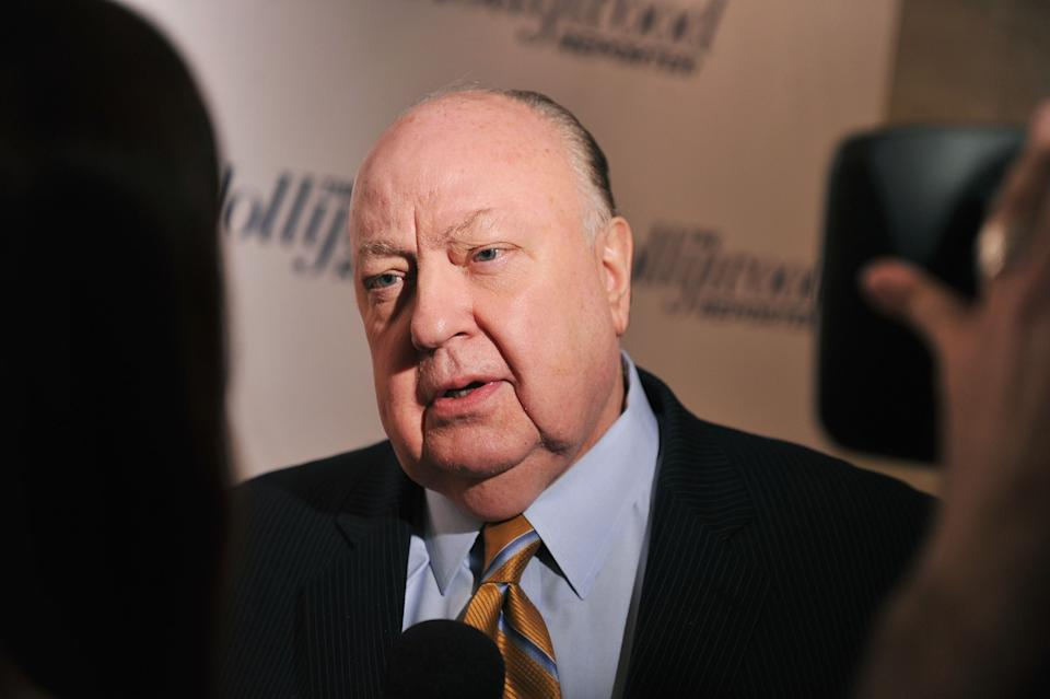 """NEW YORK, NY - APRIL 11:  Roger Ailes, President of Fox News Channel attends the Hollywood Reporter celebration of """"The 35 Most Powerful People in Media"""" at the Four Season Grill Room on April 11, 2012 in New York City.  (Photo by Stephen Lovekin/Getty Images)"""