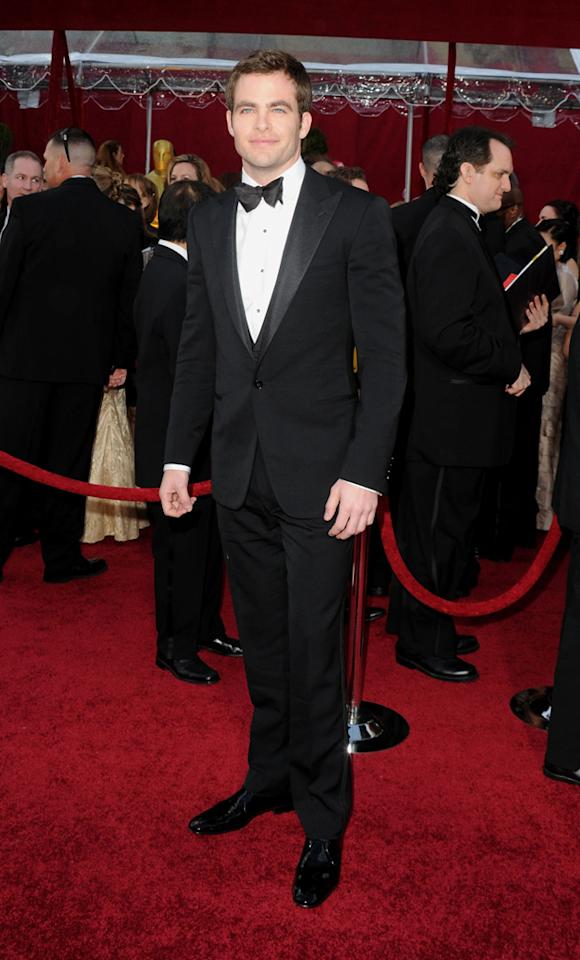 Chris Pine arrives at the 82nd Annual Academy Awards held at Kodak Theatre on March 7, 2010 in Hollywood, California.