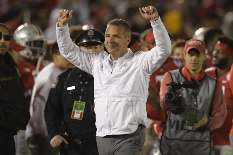 Former Ohio State coach Urban Meyer boasts a perfect 7-0 record against Michigan.