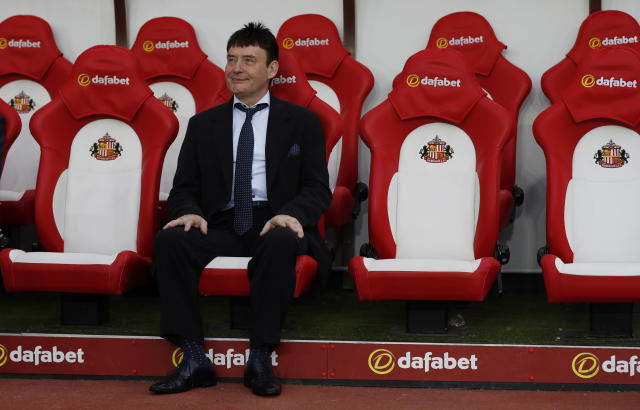 "Britain Football Soccer - Sunderland v Everton - Premier League - Stadium of Light - 12/9/16 Snooker player Jimmy White sits on the bench before the match Action Images via Reuters / Lee Smith Livepic EDITORIAL USE ONLY. No use with unauthorized audio, video, data, fixture lists, club/league logos or ""live"" services. Online in-match use limited to 45 images, no video emulation. No use in betting, games or single club/league/player publications. Please contact your account representative for further details."
