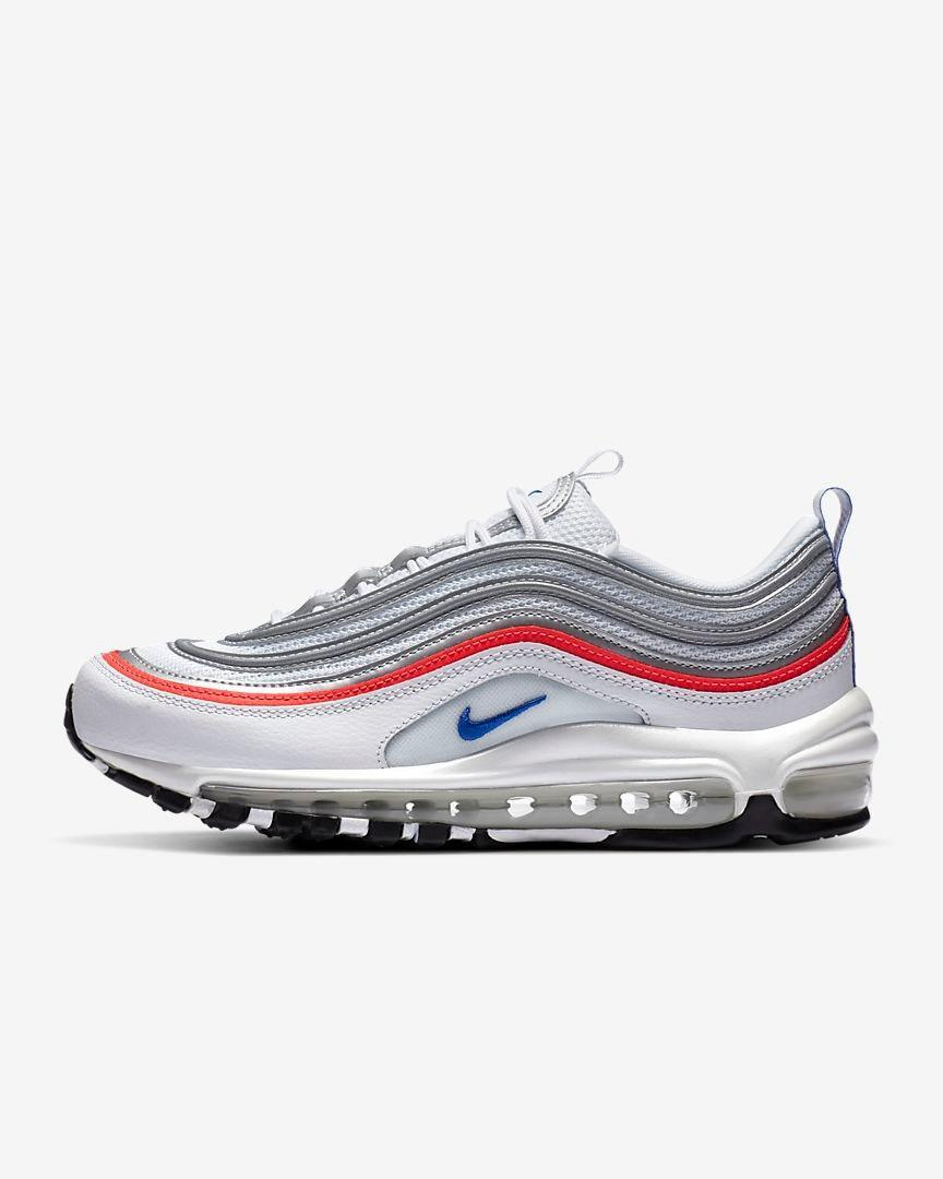 "Take this opportunity to grab yourself a pair of Nike's iconic Air Max 97s on sale. These will put you right into hypebae mode. $170, Nike. <a href=""https://www.nike.com/t/air-max-97-womens-shoe-XD9m01/CZ6087-101?"" rel=""nofollow noopener"" target=""_blank"" data-ylk=""slk:Get it now!"" class=""link rapid-noclick-resp"">Get it now!</a>"