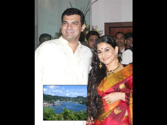"<b>Siddharth-Vidya: Caribbean islands</b><br> Just as the craze regarding the sophisticated royal marriage of ""Saifeena"" was calming down, the news about Vidya Balan and UTV head Siddharth Roy Kapoor getting hooked hit the air. Though the couple kept the whole thing very private, the media made no delay in finding out that the couple planned a honeymoon trip to the mystic Caribbean islands for the concluding couple of weeks of the year 2012."