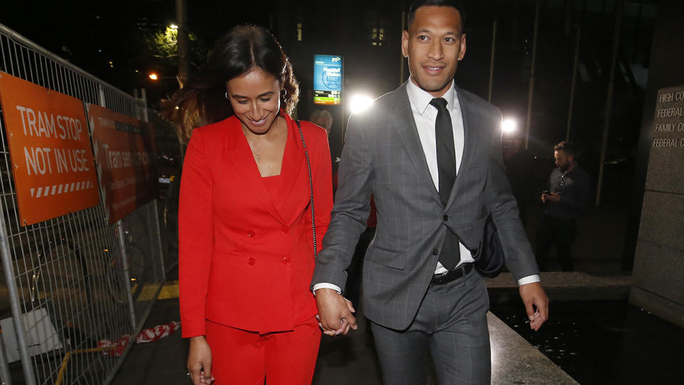 Israel Folau reached a confidential settlement with Rugby Australia last year, following a lengthy legal dispute. (Photo by Darrian Traynor/Getty Images)