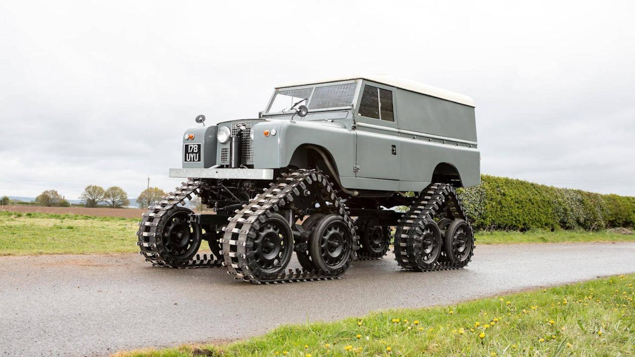 "<p>If it's off-road, few (perhaps none) can beat the legendary <a rel=""nofollow"" href=""https://uk.motor1.com/land-rover/defender/"">Land Rover Defender</a>. Imagine the iconic Land Rover then add tracks. Calling it unstoppable is an understatement.</p> <p>You won't be going anywhere fast, though, because its maximum speed is 19.8 miles per hour. Aside from its monstrous beauty, the original vehicle was designed and built directly by Land Rover in the fifties.</p><h2>Check out these automotive hotpots:</h2><ul><li><a rel=""nofollow"" href=""https://uk.motor1.com/news/185204/crazy-car-mashups/?utm_campaign=yahoo-feed"">You'll love or hate these crazy car mashups</a></li><br><li><a rel=""nofollow"" href=""https://uk.motor1.com/features/297361/supercars-as-rally-cars/?utm_campaign=yahoo-feed"">Seven supercars (and a super dud) rendered as unlikely rally cars</a></li><br></ul>"