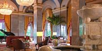 """<p>The <a href=""""https://go.redirectingat.com?id=74968X1596630&url=https%3A%2F%2Fwww.tripadvisor.com%2FHotel_Review-g50207-d95212-Reviews-Renaissance_Cleveland_Hotel-Cleveland_Ohio.html&sref=https%3A%2F%2Fwww.redbookmag.com%2Fabout%2Fg34149750%2Fmost-historic-hotels%2F"""" rel=""""nofollow noopener"""" target=""""_blank"""" data-ylk=""""slk:Renaissance Cleveland"""" class=""""link rapid-noclick-resp"""">Renaissance Cleveland</a>, on Public Square, is one of the city's most iconic hotels. Built in 1918, the 15-story neoclassical building features vaulted ceilings, arched windows, and an elegant marble fountain in the lobby. Plus, its Grand Ballroom is still the largest in the city. </p>"""