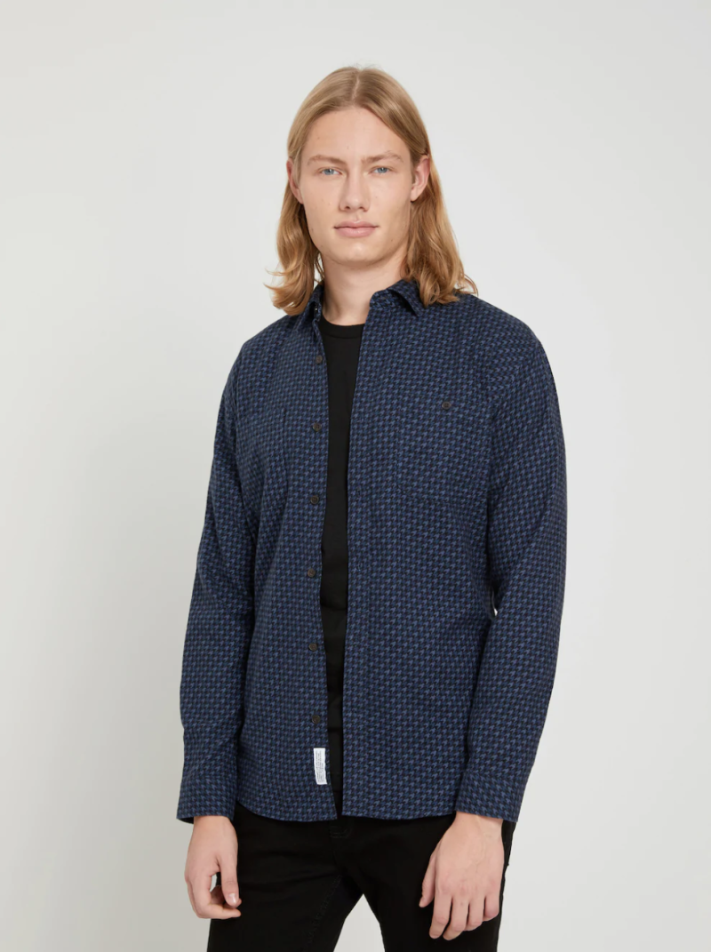 Houndstooth Flannel Shirt