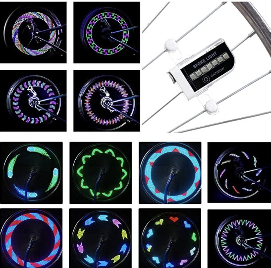 LED waterproof safety tire lights for kids adults, battery included, S$22.13. PHOTO: Amazon