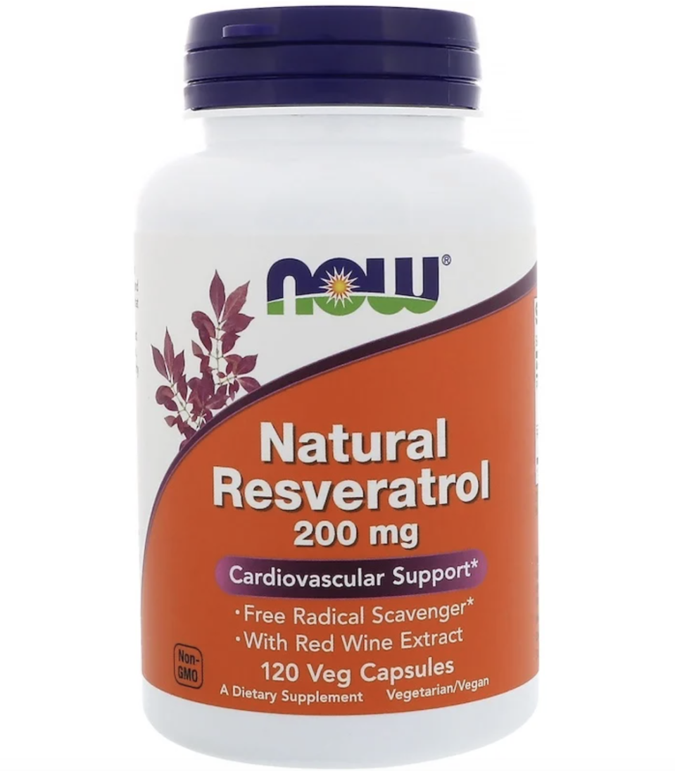 Now Foods, Natural Resveratrol, 200 mg, 120 Veg Capsules, ₱1,187.46. PHOTO: iHerb