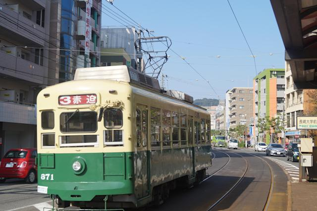 <p>Commuters travel to work using the Nagasaki Electric Tramway. (Photo: Michael Walsh/Yahoo News) </p>
