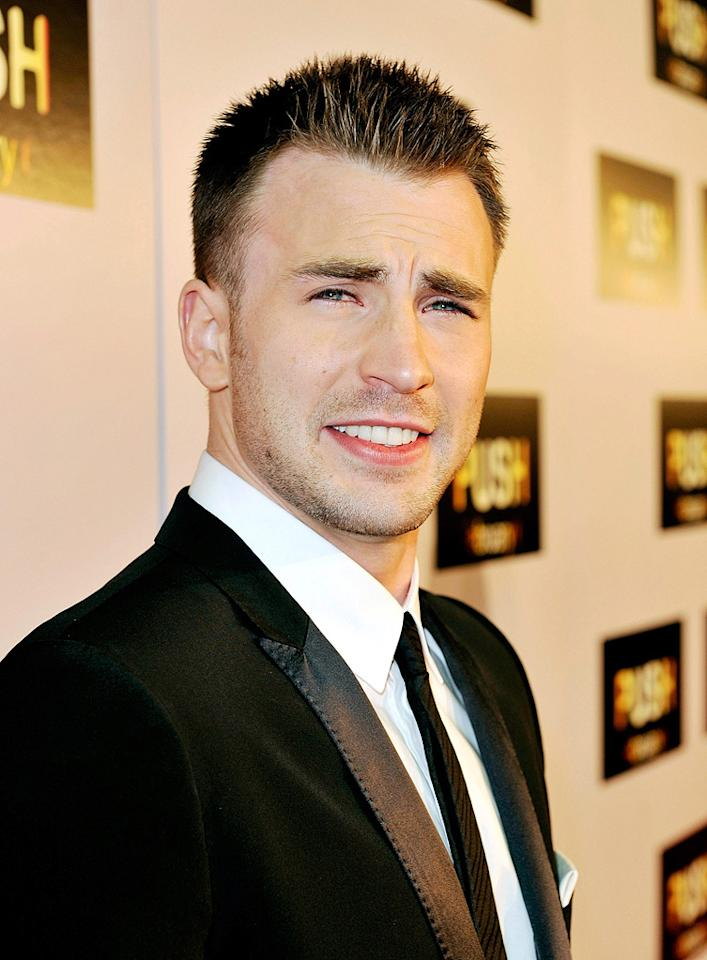 """<a href=""""http://movies.yahoo.com/movie/contributor/1803006988"""">Chris Evans</a> at the Los Angeles premiere of <a href=""""http://movies.yahoo.com/movie/1809922967/info"""">Push</a> - 01/29/2009"""