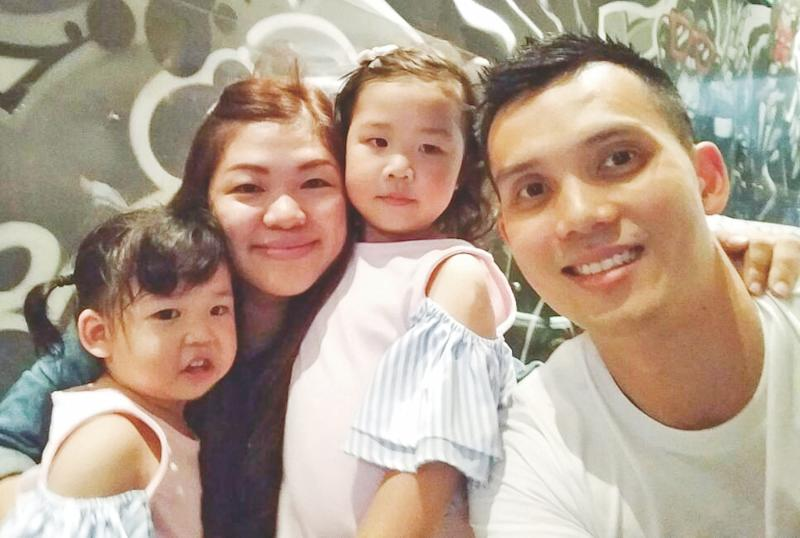 Ong Beng Hee with his family, (from left) Joelle, Winnie and Janelle. — Picture courtesy of Ong