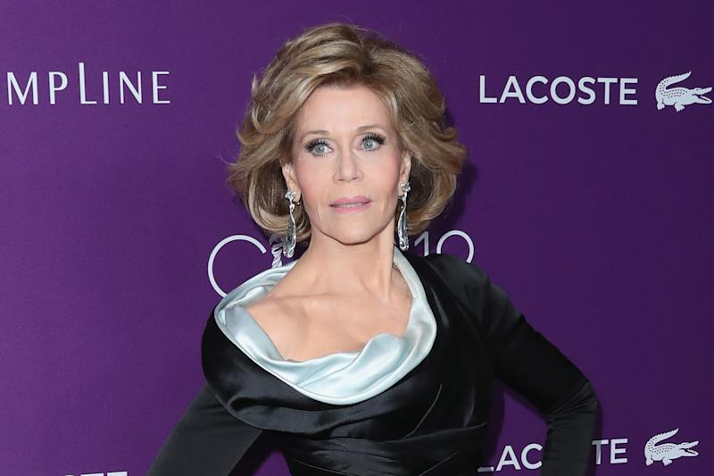 Candid: Jane Fonda has revealed that she has been raped: Frederick M. Brown/Getty Images
