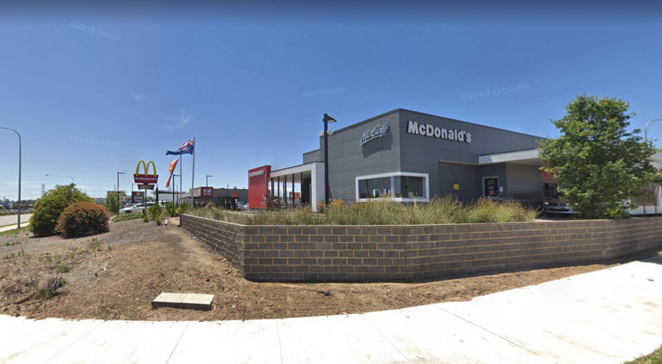 McDonald's at Gregory Hills is pictured.
