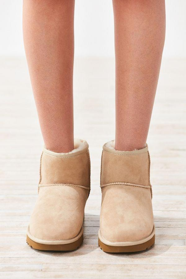 <p>Looking for something shorter? This <span>UGG Classic II Mini Ankle Boot</span> ($140) is easy to slip on and off.</p>