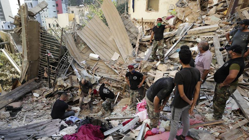Beirut explosion search and rescue effort