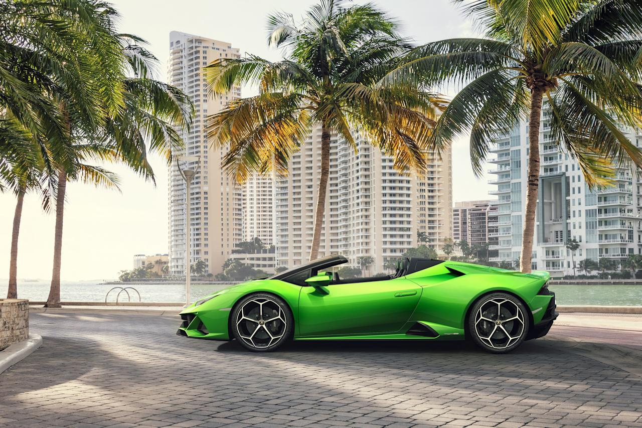 Lamborghini knows its market position: Design the most outré vehicles possible, stuff them with the roaringest engines, slather them in colors that would terrify a Miami manicurist, and let them loose in ever more insanely potent varieties. This is peak Huracán, its bellowing V10 massaged to put out 640 hp, good enough to goose this green meanie from zero to 60 in fewer than three seconds, en route to a 201 m.p.h. top speed. This will make summer go by very fast. <em>$287,400</em>