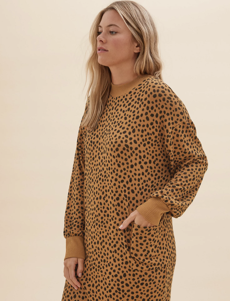 The cosy lounge dress even has pockets. (Marks & Spencer)