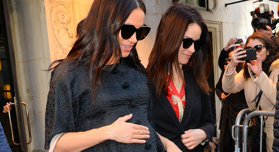 Meghan Markle (left) stayed at The Mark in New York City for her baby shower in 2019 (Getty)
