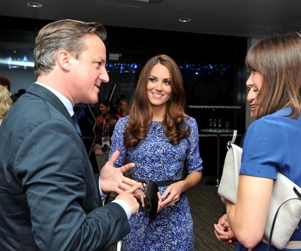 Kate must love her blue and purple Whistles dress! The Duchess of Cambridge recycles yet another dress at the Olympics Closing Ceremony on August 12, 2012. She wears a $180 Bella dress, which is, of course, sold out. Her love of the line has even caused the brand's website to crash as shoppers hoped to wear the frock of a princess. (Photo by John Stillwell - WPA Pool/Getty Images)