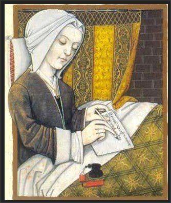 """Like Hadewijch, <a href=""""http://www.christianitytoday.com/ch/1991/issue30/3031.html?start=3"""">Mechthild of Magdeburg</a>was part of the Beguine community. The German mystic decided at age 22 to devote her life to God and authored a text entitled <i>The Flowing Light of the Godhead</i>. She entered the convent of Helfta in 1270 and used poetry to express her divine revelations. On the first page of The Flowing Light, Mechthild wrote: """"I have been put on my guard about this book, and certain people have warned me that, unless I have it buried, it will be burnt. Yet, I in my weakness have written it, because I dared not hide the gift that is in it."""""""