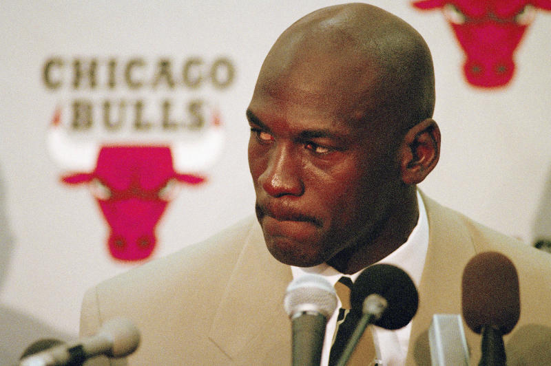 Chicago Bulls star Michael Jordan