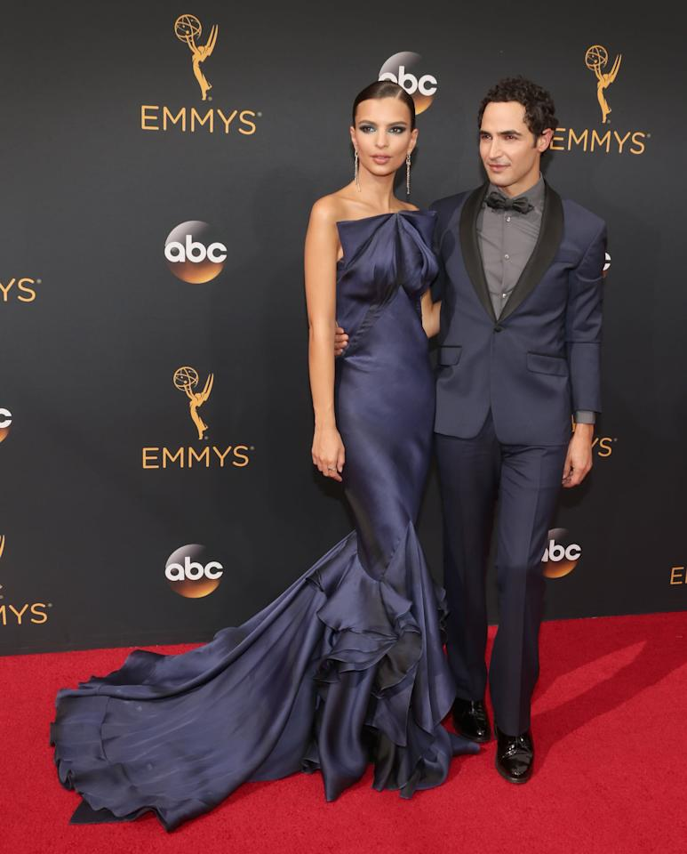 """<p><a href=""""https://www.popsugar.com/fashion/Emily-Ratajkowski-Zac-Posen-Dress-Emmys-2016-42412134"""" class=""""ga-track"""" data-ga-category=""""Related"""" data-ga-label=""""https://www.popsugar.com/fashion/Emily-Ratajkowski-Zac-Posen-Dress-Emmys-2016-42412134"""" data-ga-action=""""In-Line Links"""">She walked the red carpet with the designer himself at the 2016 Emmy Awards</a>.</p>"""