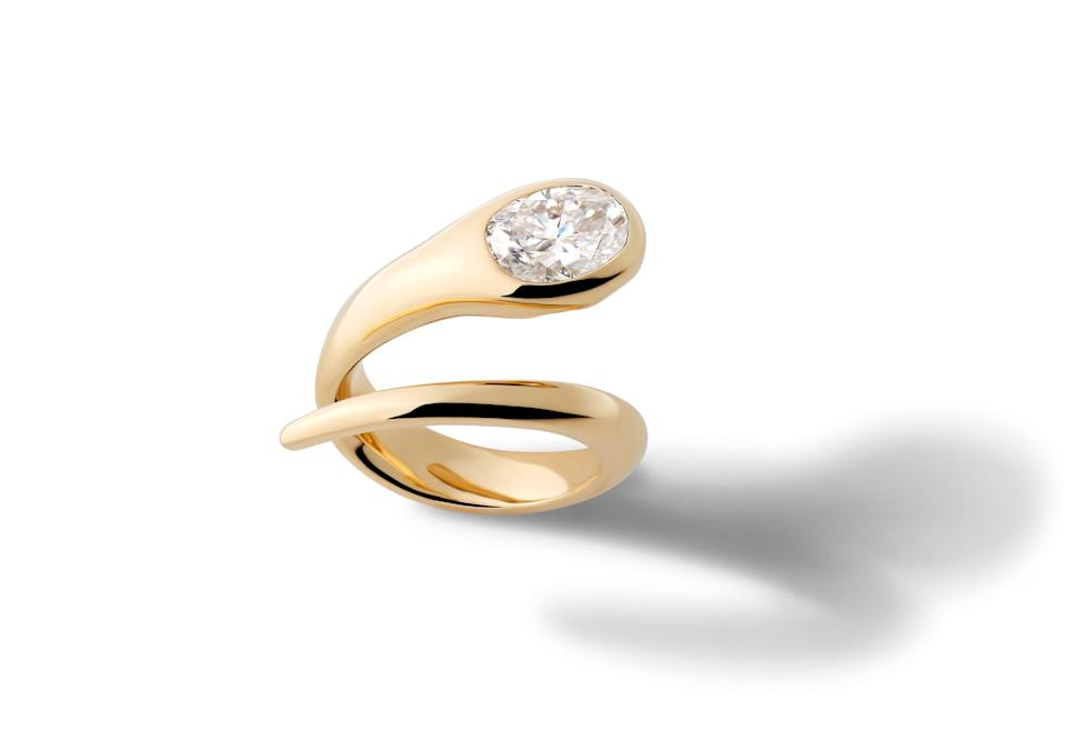 """<p>Alison Lou</p><p><a href=""""https://www.alisonlou.com/pages/bridal"""" rel=""""nofollow noopener"""" target=""""_blank"""" data-ylk=""""slk:INQUIRE HERE"""" class=""""link rapid-noclick-resp"""">INQUIRE HERE</a></p><p>If you like Alison Lou's colorful, modern jewelry style, then you will love her bridal rings, which have a contemporary twist and sleek enamel details. </p>"""