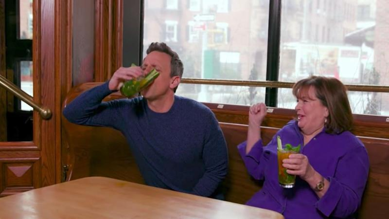Watch Seth Meyers Get Hammered While Day Drinking With Ina Garten