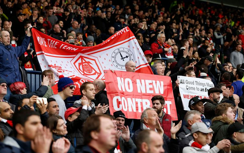 There was more unrest in the Arsenal away end during their defeat at West Brom - Reuters