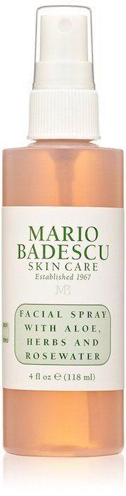 "<strong><a href=""https://www.amazon.com/Mario-Badescu-Facial-Spray-Rosewater/dp/B002LC9OES?th=1"" target=""_blank"">Mario Badescu facial spray with aloe, herbs and rosewater</a>, $7</strong>"