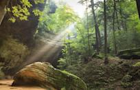 """<p>As one of the best-known state parks in the Midwest, hikers enjoy <a href=""""https://www.tripadvisor.com/Attraction_Review-g28956-d103467-Reviews-Hocking_Hills_State_Park-Ohio.html"""" rel=""""nofollow noopener"""" target=""""_blank"""" data-ylk=""""slk:Hocking Hills State Park"""" class=""""link rapid-noclick-resp"""">Hocking Hills State Park</a> for its trails lined with wildflowers, cliffs, waterfalls, and gorges.</p><p><br><a class=""""link rapid-noclick-resp"""" href=""""https://go.redirectingat.com?id=74968X1596630&url=https%3A%2F%2Fwww.tripadvisor.com%2FAttraction_Review-g28956-d103467-Reviews-Hocking_Hills_State_Park-Ohio.html&sref=https%3A%2F%2Fwww.countryliving.com%2Flife%2Ftravel%2Fg24487731%2Fbest-hikes-in-the-us%2F"""" rel=""""nofollow noopener"""" target=""""_blank"""" data-ylk=""""slk:PLAN YOUR HIKE"""">PLAN YOUR HIKE</a></p>"""