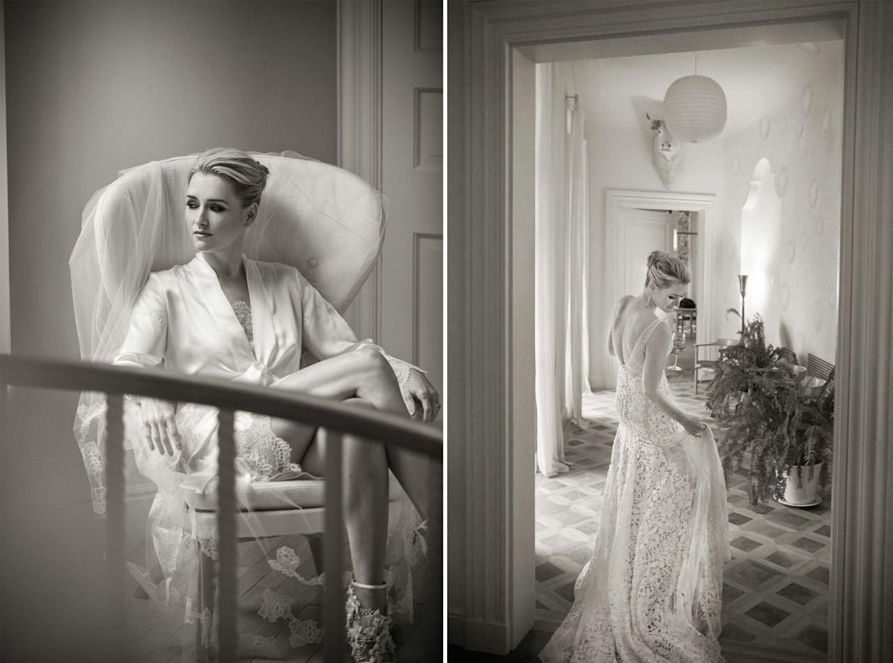 """<p>Your photographer should be invited into the bridal suite when you're about 90% primped and prepped. He or she will be in your periphery all day; start the day off calmly and without the pressure of being documented.</p><p>Have a <a href=""""https://www.harpersbazaar.com/wedding/bridal-fashion/a30772338/how-to-make-wedding-trousseau/"""" target=""""_blank"""">chic slip or robe</a> for capturing intimate moments, like this stunning portrait of BAZAAR's Executive Digital Director (and BAZAAR Bride), <a href=""""https://www.harpersbazaar.com/wedding/photos/a19489/joyann-king-wedding/"""" target=""""_blank"""">Joyann King</a>, taken by <a href=""""https://www.christianothstudio.com/"""" target=""""_blank"""">Christian Oth</a>. Enjoy the morning of your wedding sans staging; when your photographer arrives, have a little fun in the bridal suite and put on your shoes, jewelry, and your wedding day scent. Let your photographer capture those moments, rather than setting up a champagne toast with your bridesmaids in matching sets; trust us, quiet moments like these of you in your element are ones you're more likely to frame.</p>"""