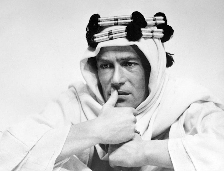 "FILE - In this 1961 file photo, actor Peter O'Toole is shown in the title role in the film ""Lawrence of Arabia."" In a statement released Tuesday, July 10, 2012, the 79-year-old actor said he would retire from films and stage. ""The heart of it has gone out of me,"" he said, adding, ""it won't come back."" O'Toole won acclaim as a Shakespearian actor before rocketing to fame in ""Lawrence of Arabia."" His last of eight Oscar nominations was in 2007 for the film ""Venus."" (AP Photo/Columbia Pictures, file)"